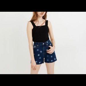 Madewell Denim Polka Dot Shorts